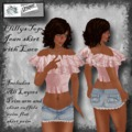 Frilly Pink - jean skirt