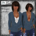Wrap sweater w/undershirt