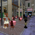 The cafe in the square