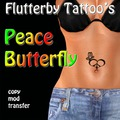 Peace Butterfly Tattoo